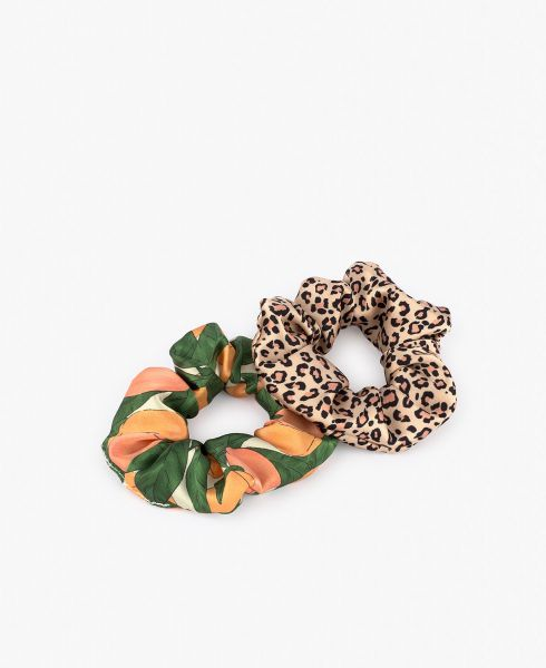 Scrunchies / Pink Savannah & Peach