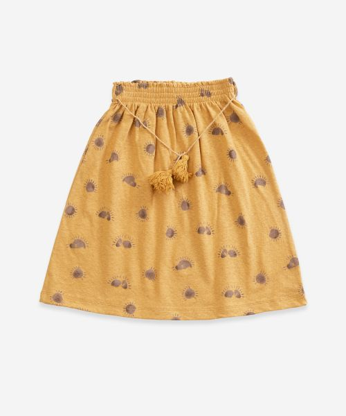 Printed Jersey Skirt / Sea Almond