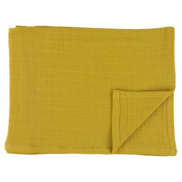 Muslin Cloths 55x55cm 3 pcs / Bliss Mustard