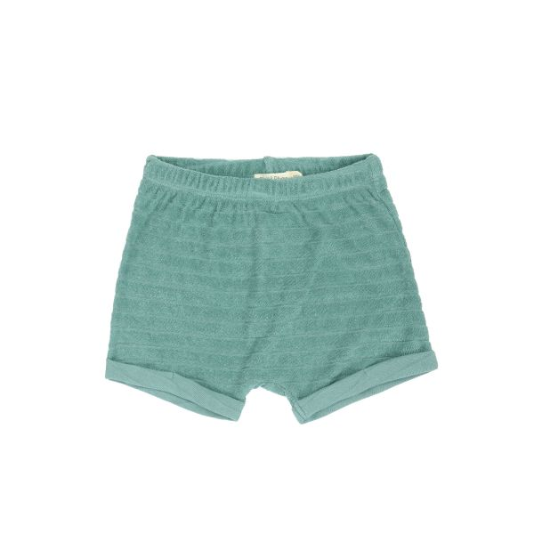 Striped Frotté Shorts / Sea Glass