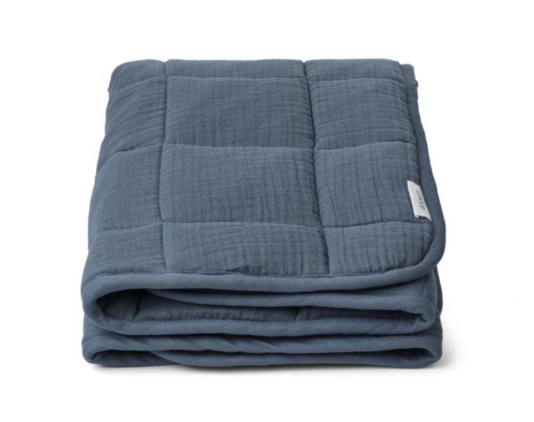 Mette quilted blanket / Blue wave