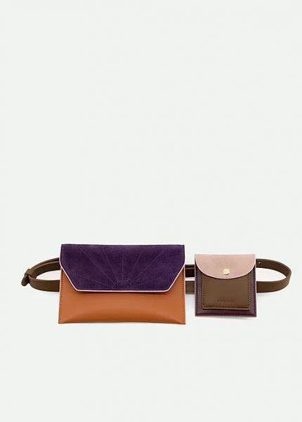 The Sticky Sis Club / Belt Bag Olive Green + Grape Purple