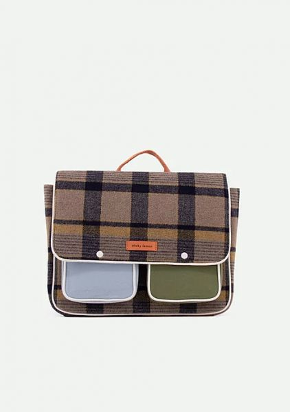 School Bag / Wanderer Sandy Beige Checks