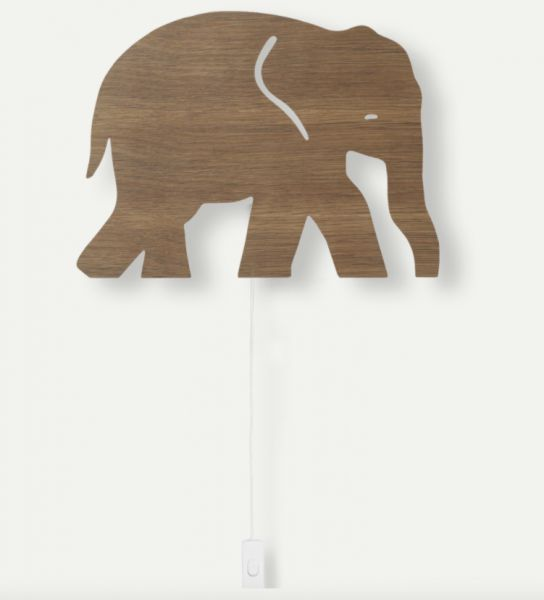 Elephant Lamp - Smoked Oak