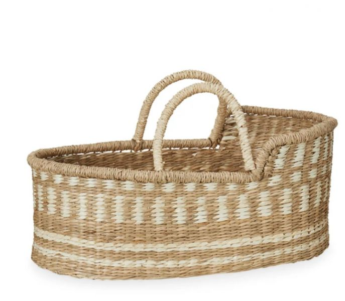 Dolls Moses Basket / Natural