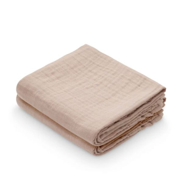 Muslin Cloth, 2-pack / Dusty Rose