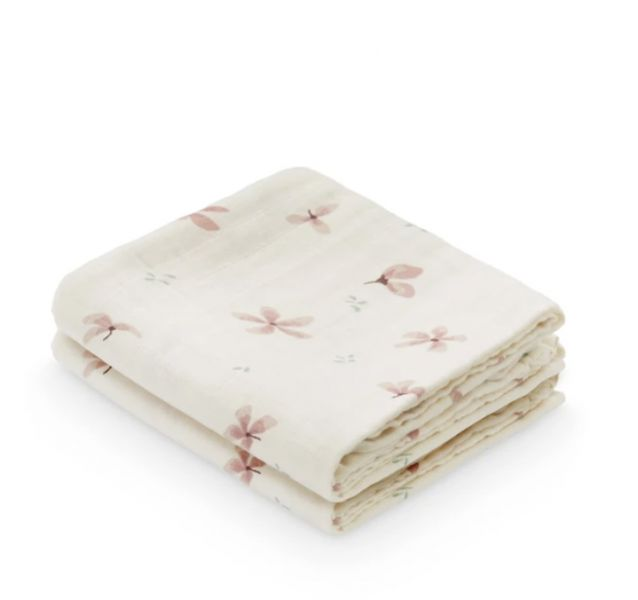 Muslin Cloth, 2-pack / Windflower Creme
