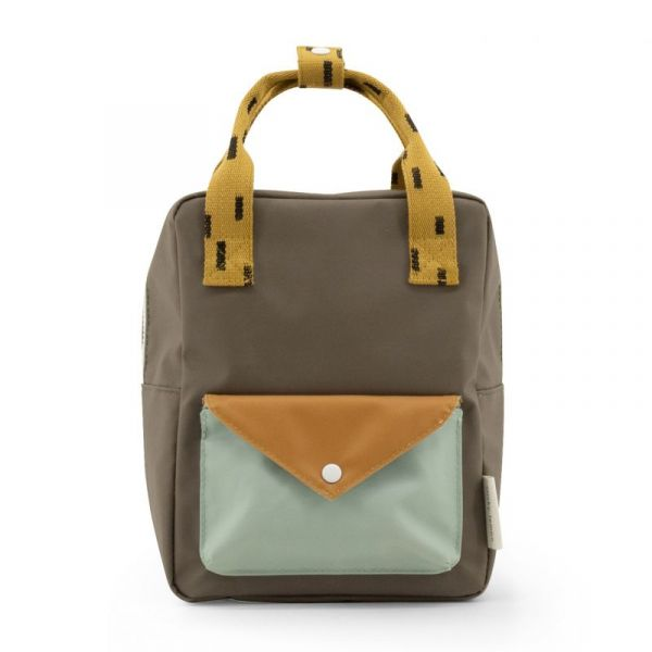 Backpack Small / Sprinkles Envelope Sage Green - Moss Green - Panache Gold
