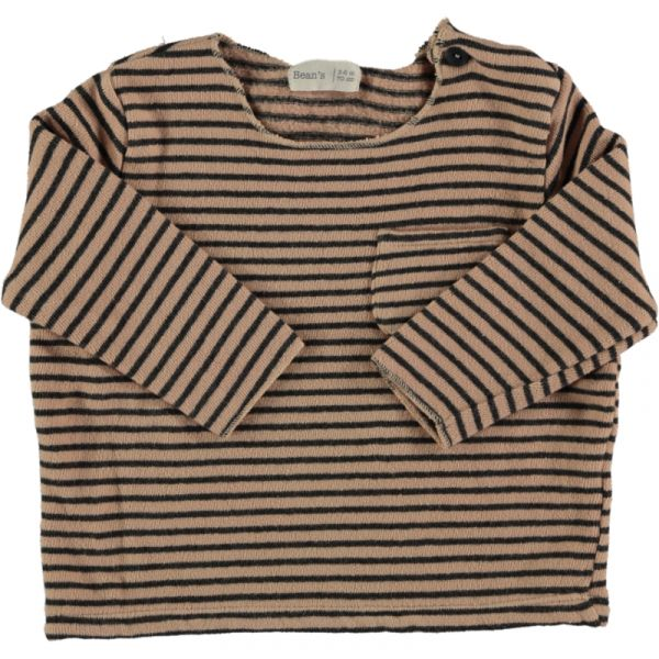 Squirrel Striped Warm Fleece / Nude
