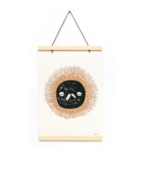 Poster Lion - Wooden Frame