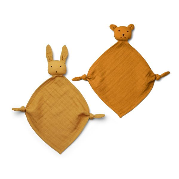 Yoko Mini Cuddle Cloth 2-pack / Yellow Mix