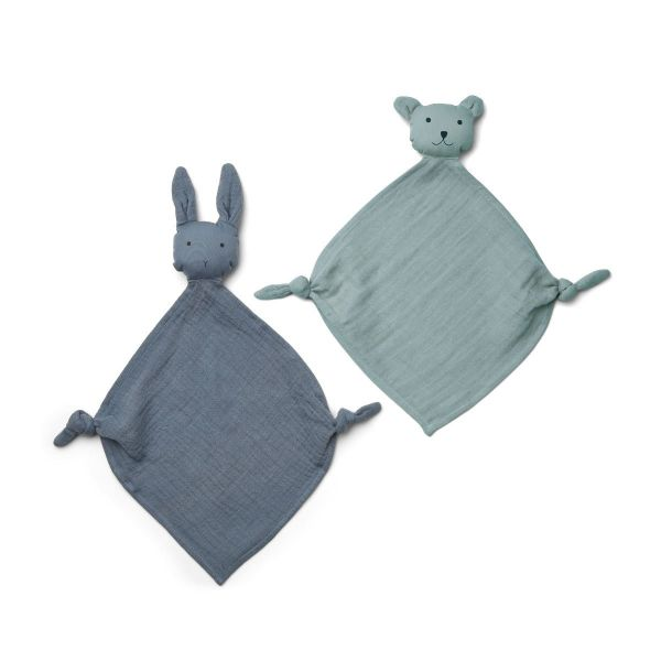 Yoko Mini Cuddle Cloth 2-pack / Blue Mix