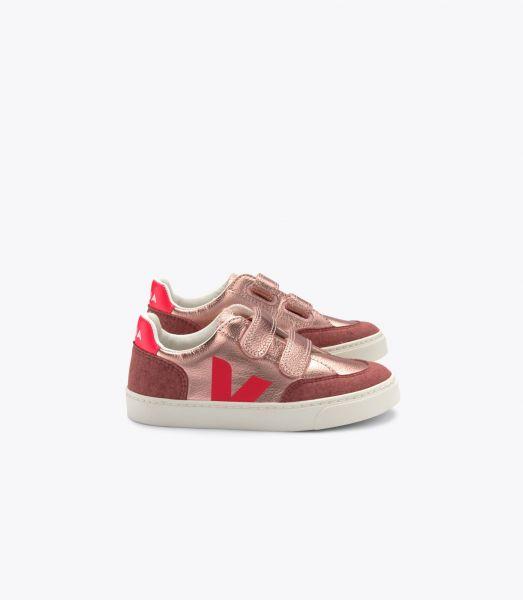 Sneaker V-10 Nacre Rose Fluo