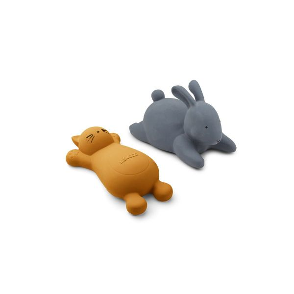 Vikky Bath Toys 2 Pack / Cat mustard
