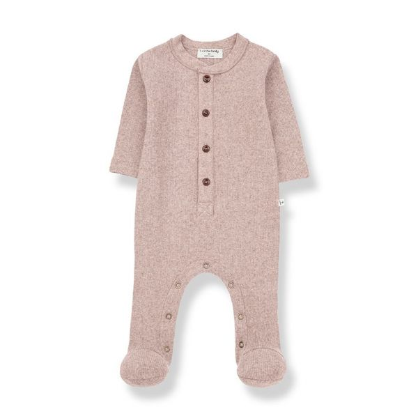 Monar Jumpsuit With Feet / Rose