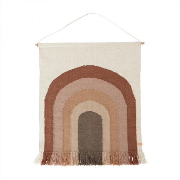 Follow The Rainbow Wall Rug / Choko