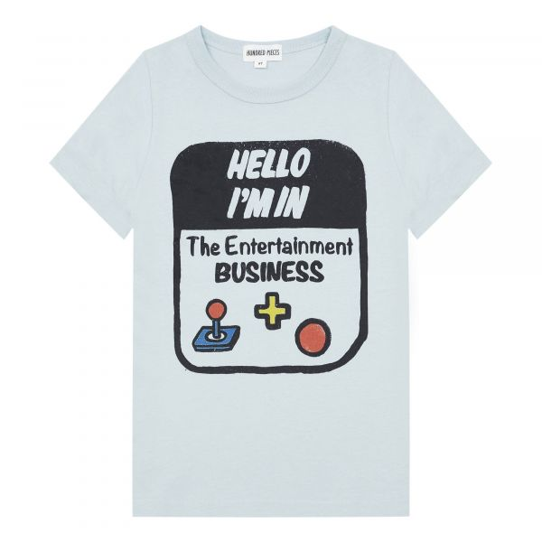 Hello I'm T-shirt / Grey Blue
