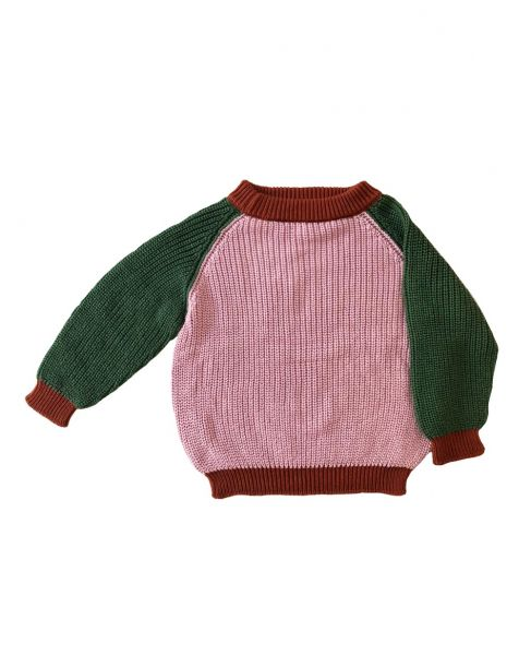 Knitted Jumper Crew Twin / Tan Rose