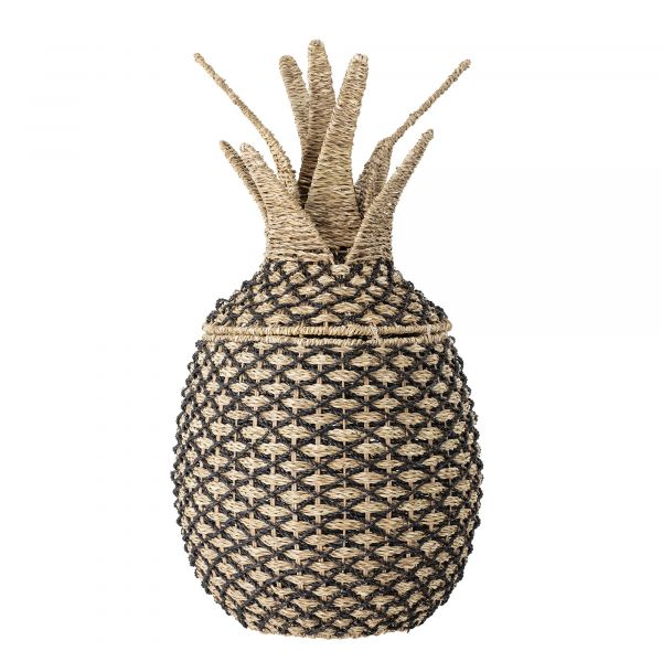 Pineapple storage basket with lid