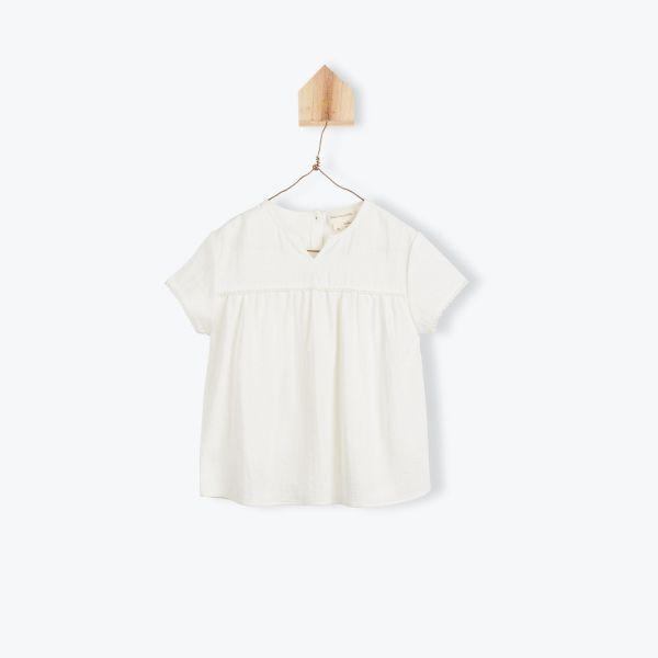 Blouse Coton Froissé / Ecru