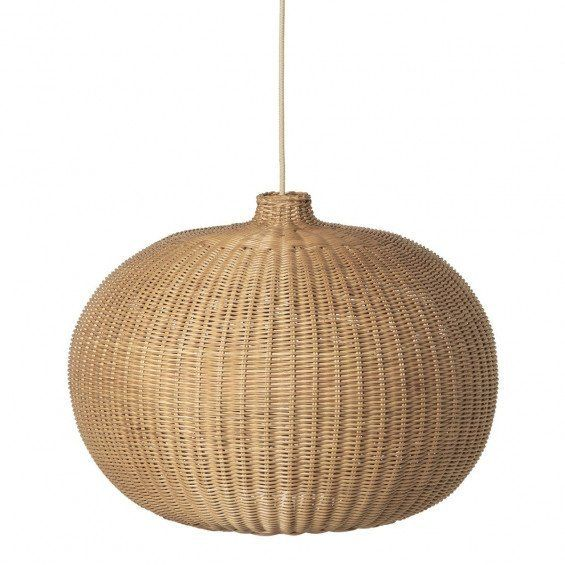Braided Belly Lamp Shade / Natural