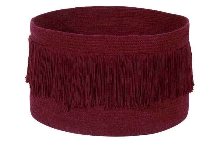 Basket / Fringes Savannah Red