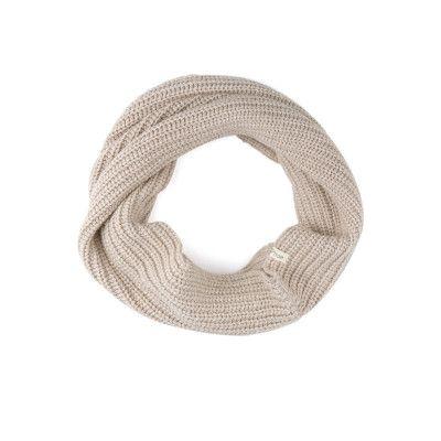 Cashmere Blend Infinity Scarf / Straw