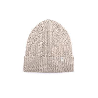 Cashmere Blend Knit Beanie / Straw