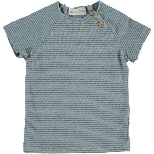 Clover Striped T-shirt / Sky Blue