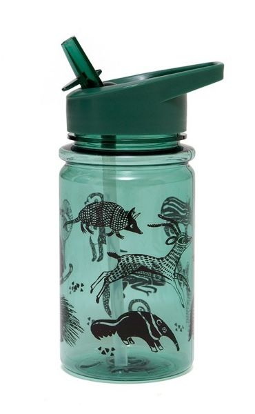 Drinking Bottle / Black Animals Salie