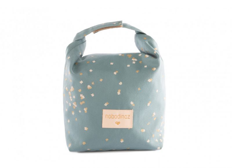 Too Cool Eco Lunch Bag / Gold Confetti - Magic Green