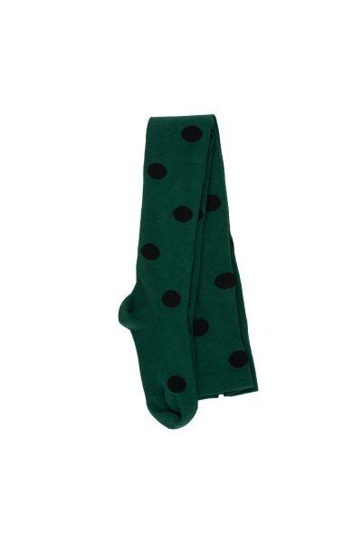 Big Dots Tights / Dark Green Black