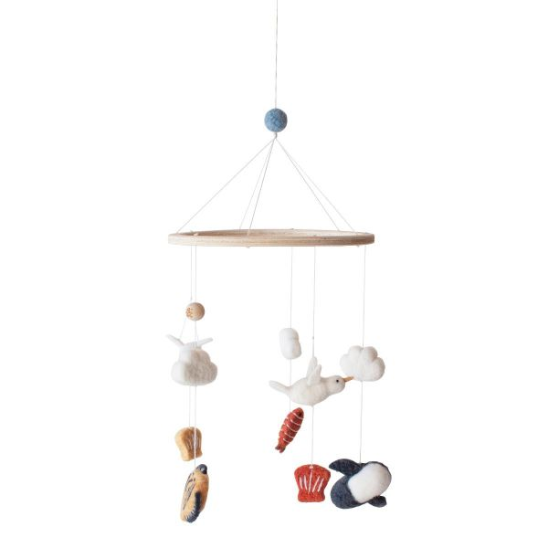 Felted Baby Mobile / Seven Seas