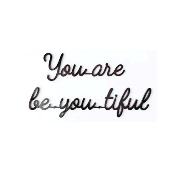 Quote / You Are Be-you-ti-ful / Black