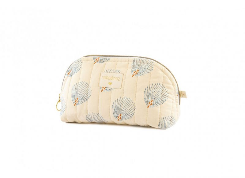 Holiday Vanity Case Small / Blue Gatsby - Cream
