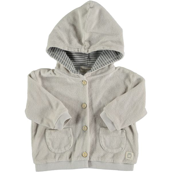 Lemon Tree Terry Hooded Jacket / Grey