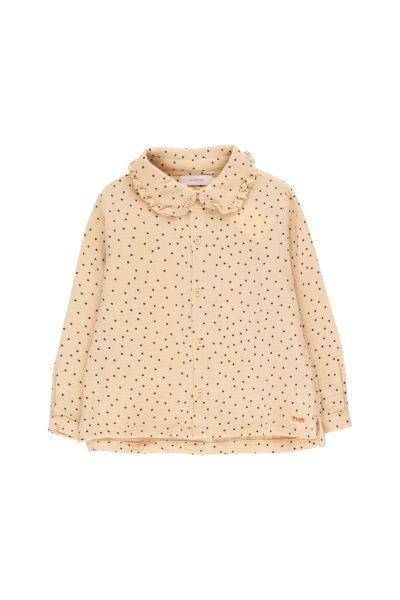 Tiny Dots Shirt / Cappuccino Navy
