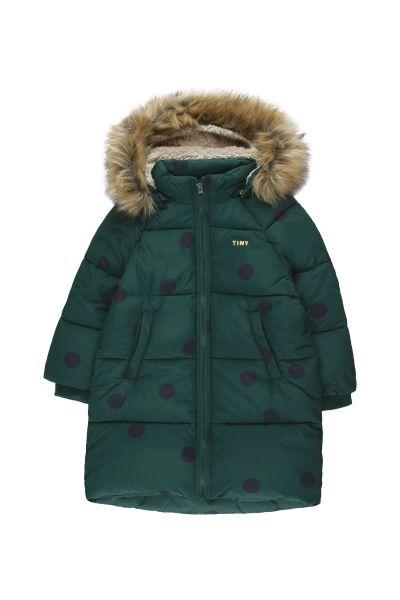 Big Dots Padded Jacket / Dark Green Black