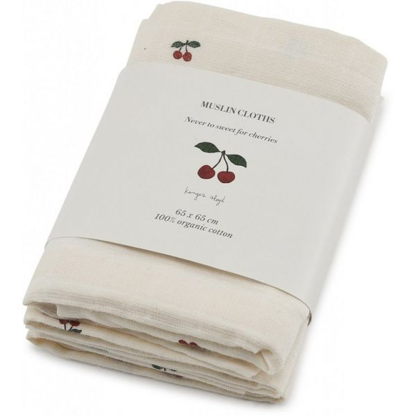 Muslin Cloth 3Pack / Cherry