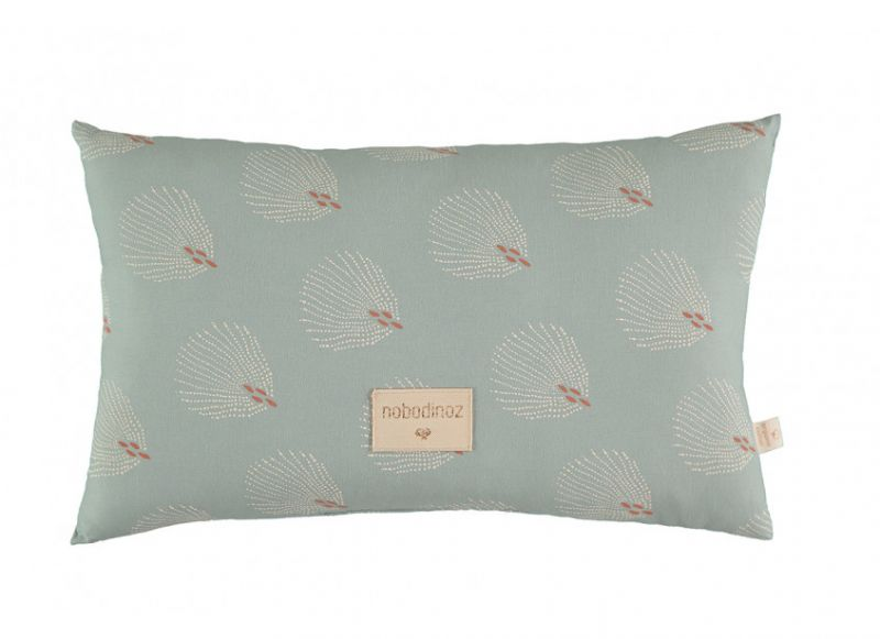 Laurel Small Cushion / White Gatsby - Antique Green