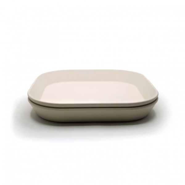 Plates square Ivory