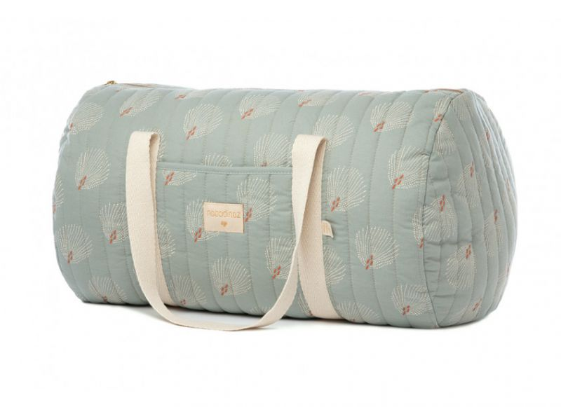 New York Weekend Bag / White Gatsby - Antique Green