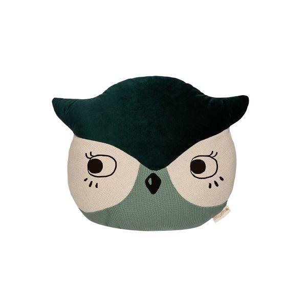 Owl Cushion / Eden Green