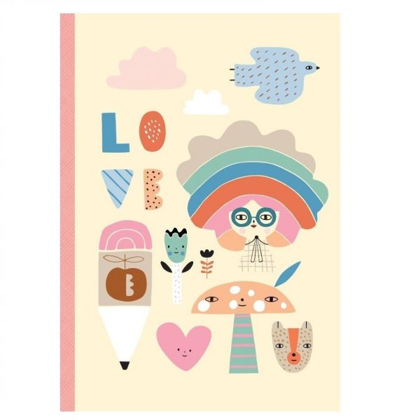 Notebook Rainbow Girl