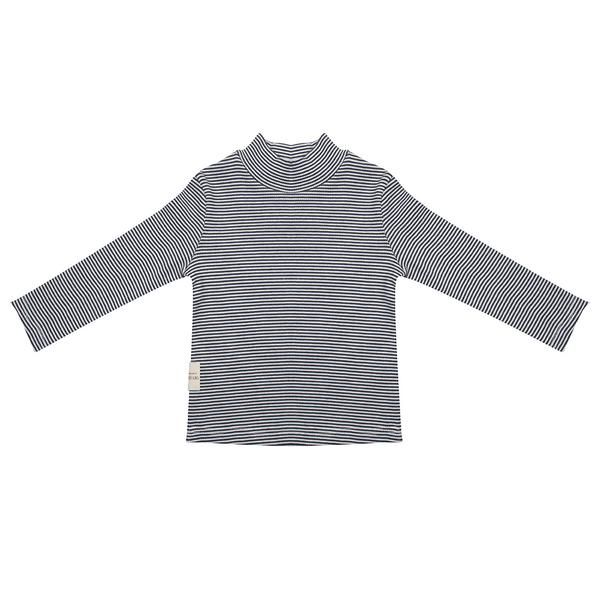 Longsleeve Turtle Neck / Small Stripe Rib