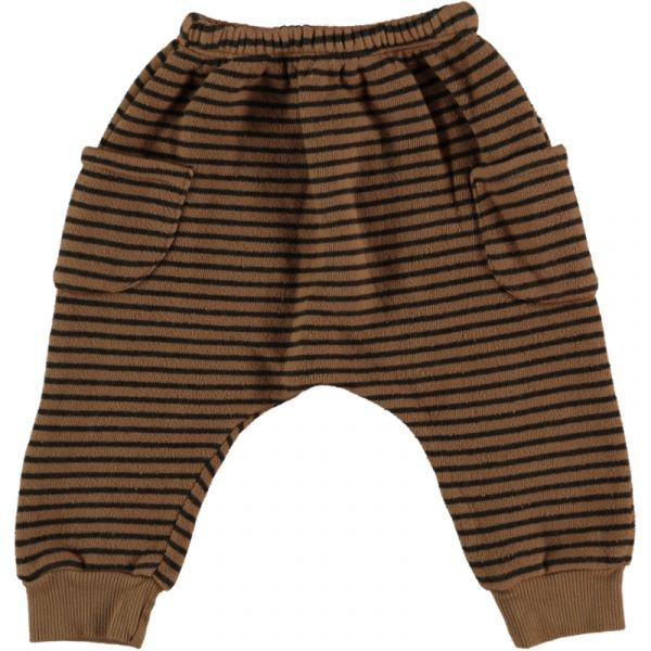Woodpecker Striped Warm Fleece Pant / Caramel