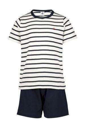 Pyjama met korte broek / streepjes
