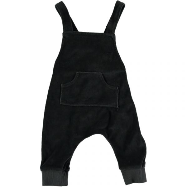Raccoon Velour Playsuit / Anthracite