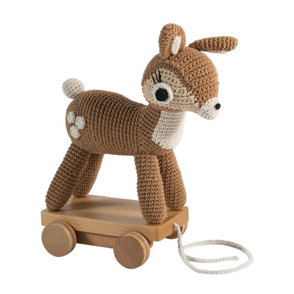 Crochet Pull-along toy / Dixi The Deer