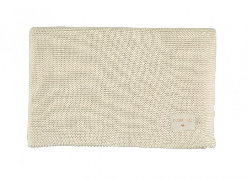 So Natural Knitted Baby Blanket / Natural